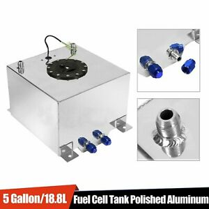 5 Gallon Drift polished Aluminum Racing Street Fuel Cell Gas Tank