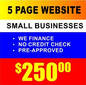 Small Business Website Custom Designed Hosting 5 Page Mobile Device Friendly