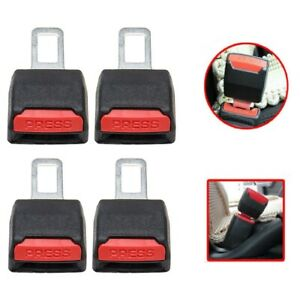 4pc Car Safety Seat Belt Buckle Extension Extender Clip Alarm Stopper Universal