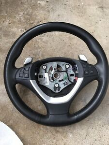 Driver Side Sport Steering Wheel Leather W Buttons Oem Bmw E70 E71 Paddle Shift
