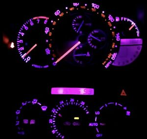 Pink Purple Cluster Led Climate Control Bulb Kit For Lexus Is300 2001 2005