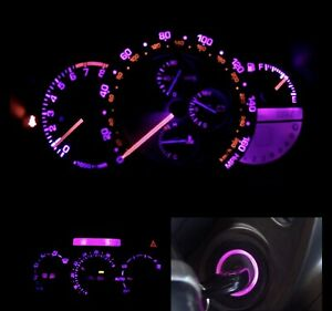 Pink Cluster climate Control keyring Led Combo Bulb Kit Lexus Is300 2001 2005