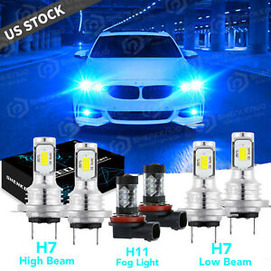 For Bmw 328i 325xi 330xi 2002 2006 Combo Led Headlight Fog Light Bulbs Kit 8000k