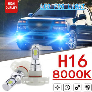 2x 70w 8000k Ice Blue H16 2smd Led Fog Lights For Chevrolet Colorado Silverado