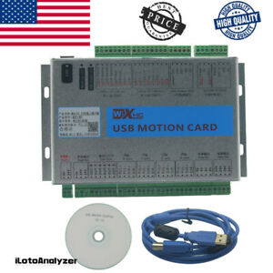 Usb 2mhz Mach4 Cnc 4 Axis Motion Control Card Breakout Board For Machine Us New