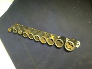 Snap On 1 2 Shallow Impact Sockets 6 Sided 10 19mm On Rail