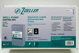 Well Pump Control Box 1 Hp 230 V By Zoeller For 3 Wire Submersible Well Pump