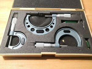 Mitutoyo 103 922 Outside Micrometer Set Standards 0 3 Range 0 0001 Grad Japan