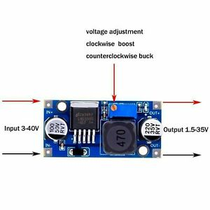 Lm2596 Dc dc Dc Adjustable Buck Power Supply Module Board 3a 12 24v To 12 5 3 3v