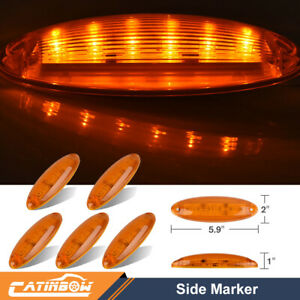 5 set Cab Clearance Roof Running Top 6 Led Amber Light For Freightliner Cascadia