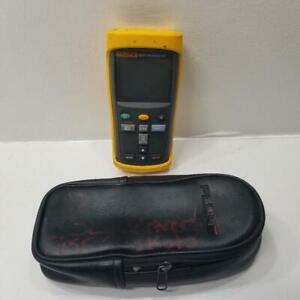 Fluke 52 Ii Thermocouple Thermometer Dual Input Digital With Soft Case