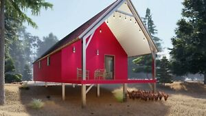 Galvanized Steel On Off Grid Tiny Cabin Tiny Home Kit Covered Patio