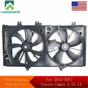 Radiator And Condenser Fan For 2012 2017 Toyota Camry 2 5l L4 To3115169
