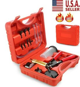 Car Hand held Vacuum Pressure Pump Tester Kit Brake Fluid Bleeder Box Us New