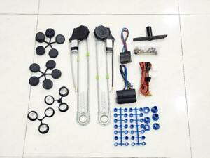 Universal 2 Door Electric Car Power Window Conversion Kit Roll Up Switches