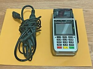 First Data Fd410 Wireless Credit Card Terminal With Power Cord