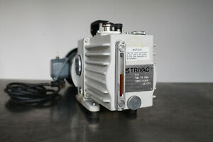 Leybold Trivac D4a Dual Stage Rotary Vane Vacuum Pump 1 3 Hp Works Well