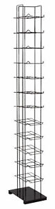 Black Floor Standing Cap And Hat Display Rack