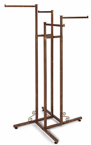 4 way Clothing Rack With Straight Arms Boutique Cobblestone