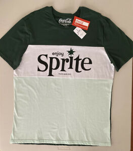 Sprite Coca Cola T Shirt XL Green White New With Tags Coke Soft Drink