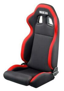Sparco R100 Street Car Seat Bucket Racing Black red Duo tone 00961nrrs New