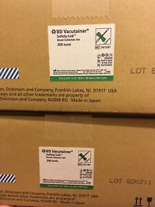 1case 200 Of Bd Vacutainer 21g Safety lok Blood Collection Set Ref No 367281
