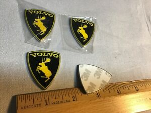 Auto Car Collection Volvo Moose Emblem Lot Of 4