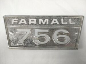 Original Oem International Harvester Farmall 756 Tractor Aluminum Emblem