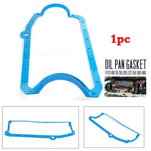 1x Blue Steel Oil Pan Gasket For Sb Chevy Engines Pre 79 265 283 327 350 383 400
