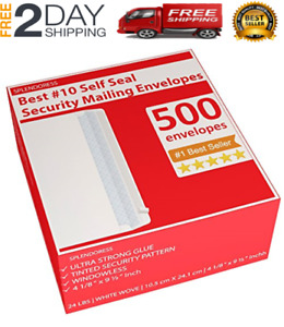 10 Business Security Envelopes Self Seal 500 Peel And Seal White Legal Size