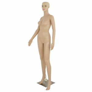 Full Body Pp Realistic Female Mannequin Display Head Turns Dress Form W Base