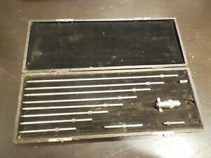 Starrett 2 To 12 Inside Micrometer Set 124bz 50546 With Original Leather Case