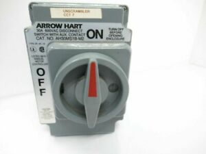 Ah30ms1b m2 Arrow Hart Cooper Wiring Devices Enclosed Disconnects used Tested
