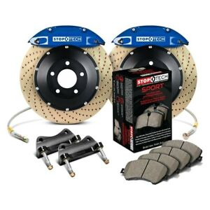 For Ford Mustang 94 04 Stoptech Performance Drilled 2 Piece Front Big Brake Kit