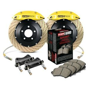 For Honda Civic 96 05 Stoptech Performance Drilled 2 piece Front Big Brake Kit