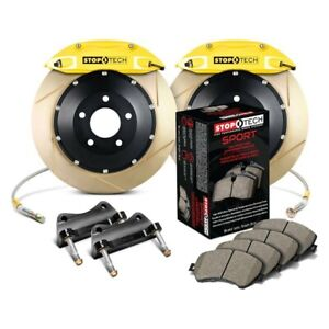 For Honda Civic 02 03 Stoptech Performance Slotted 2 piece Front Big Brake Kit