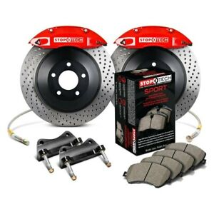 For Ford Mustang 05 14 Stoptech Touring Drilled 1 Piece Front Big Brake Kit