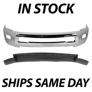 New Chrome Front Bumper Face Bar Air Dam For 2010 2012 Dodge Ram 2500 3500 2wd