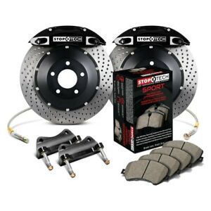 For Honda Civic 09 Stoptech Performance Drilled 2 piece Front Big Brake Kit