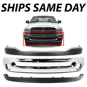 New Chrome Steel Front Bumper Face Bar Cover Combo For 2006 2008 Dodge Ram 1500