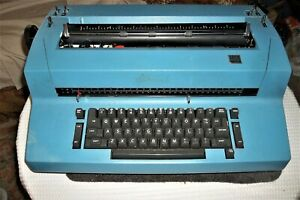 Ibm Selectric Ii Typewriter Vintage Blue One Owner Dust Cover For Parts Only