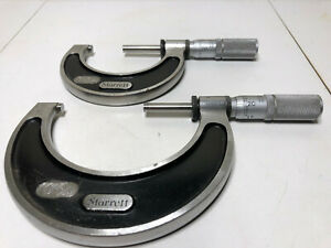 Starrett 226 Micrometer 1 2 2 3 Carbide Anvils Friction Clutch And Lock
