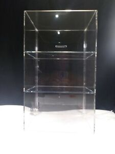 New Acrylic Tall Tower countertop 3 Tier Display Case And Key Lock free Shipping