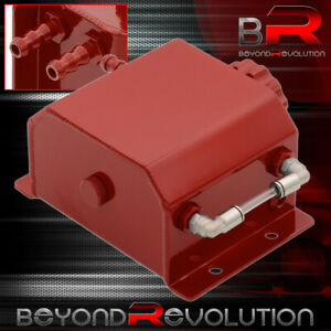 Universal Red Radiator Coolant Over Flow Reservoir Recovery Can Tank 1 Liters