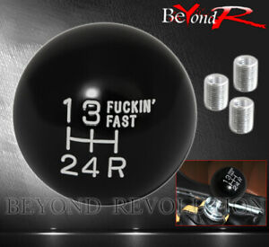 For Gmc Shift Knob 5spd Track M8x1 25 M10x1 5 M12x1 25 Adapter 5 Speed White