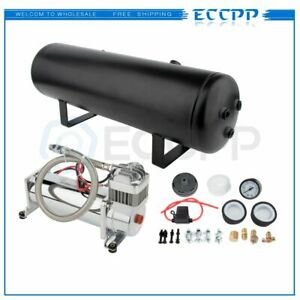 12v 200psi Air Compressor 3gal Air Tank Onboard System For Train Truck Boat Horn