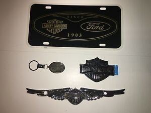 Harley davidson Motorcycles Ford F 150 License Plate Emblem Keychain Lot