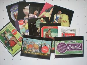 Collector Cards  Coca-Cola  9 sets  724 cards in Pages and Binder