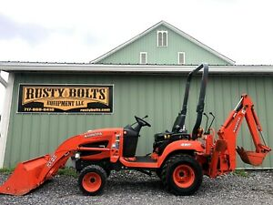 2010 Kubota Bx25 4x4 Diesel Tractor Loader Backhoe Tlb Nice Low Cost Shipping