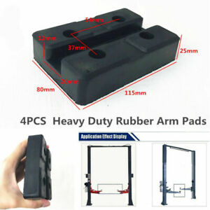 4 X Square Heavy Duty Rubber Arm Pads Car Lift Accessories For Auto Truck Hoists Fits Eagle